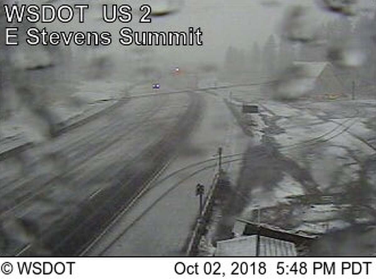 The cold came with the first snow of the season in Stevens Pass.