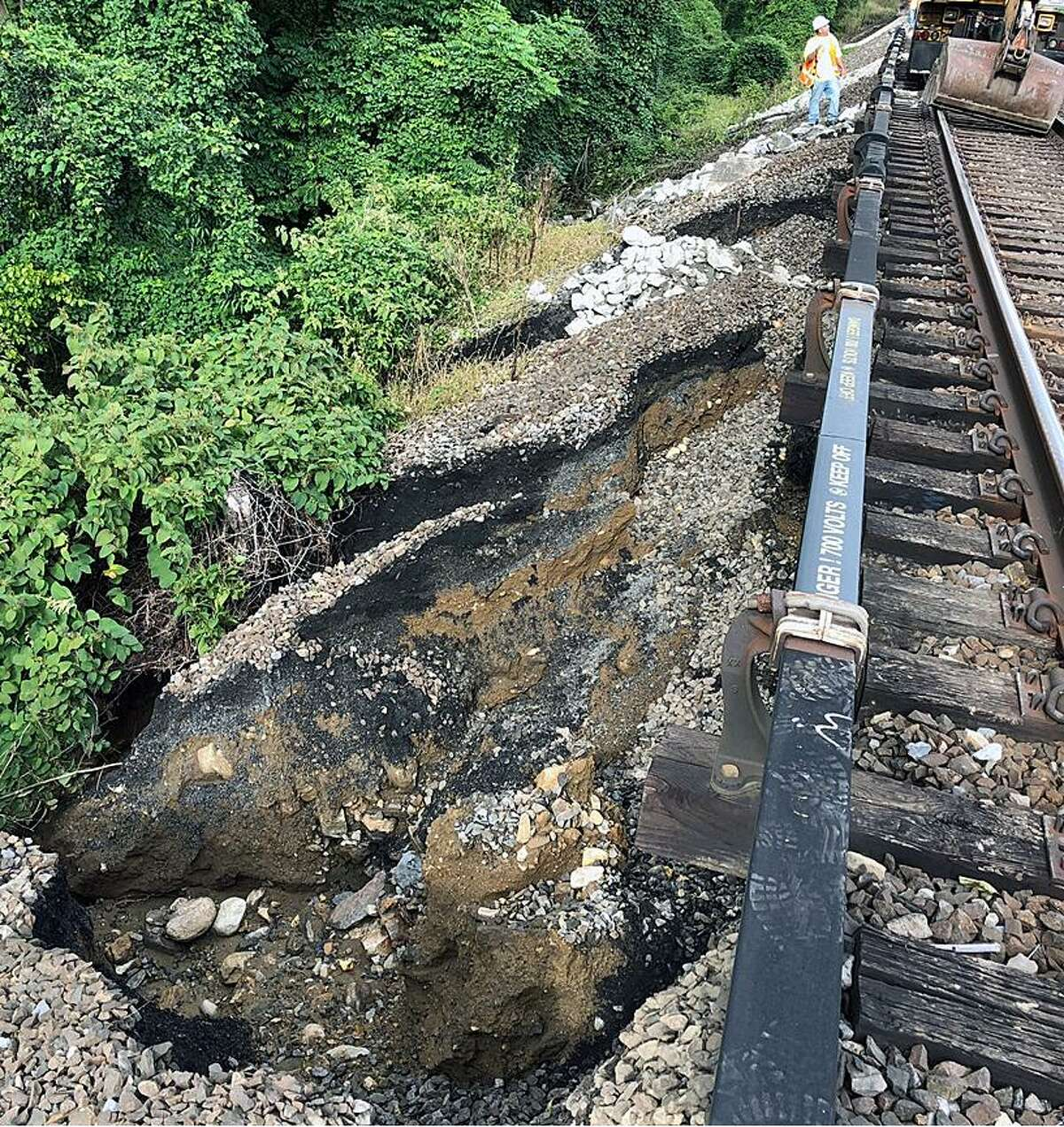 Metro-North shared these photos on Oct. 3, 2018, to show damage done during the storms on Oct. 2, 2018.