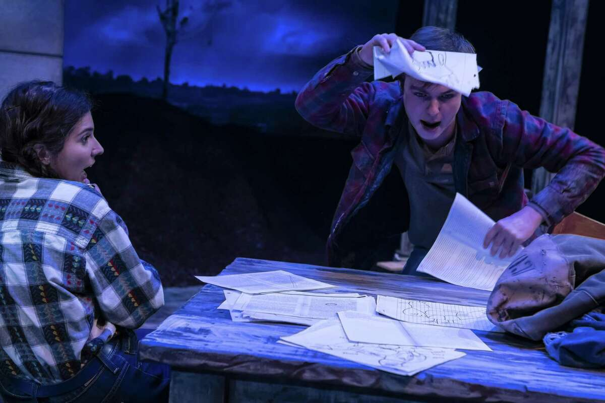 """Sarah Becker as Emma and Jayden Key as Wesley in Catastrophic Theatre's """"Curse of the Starving Class."""""""