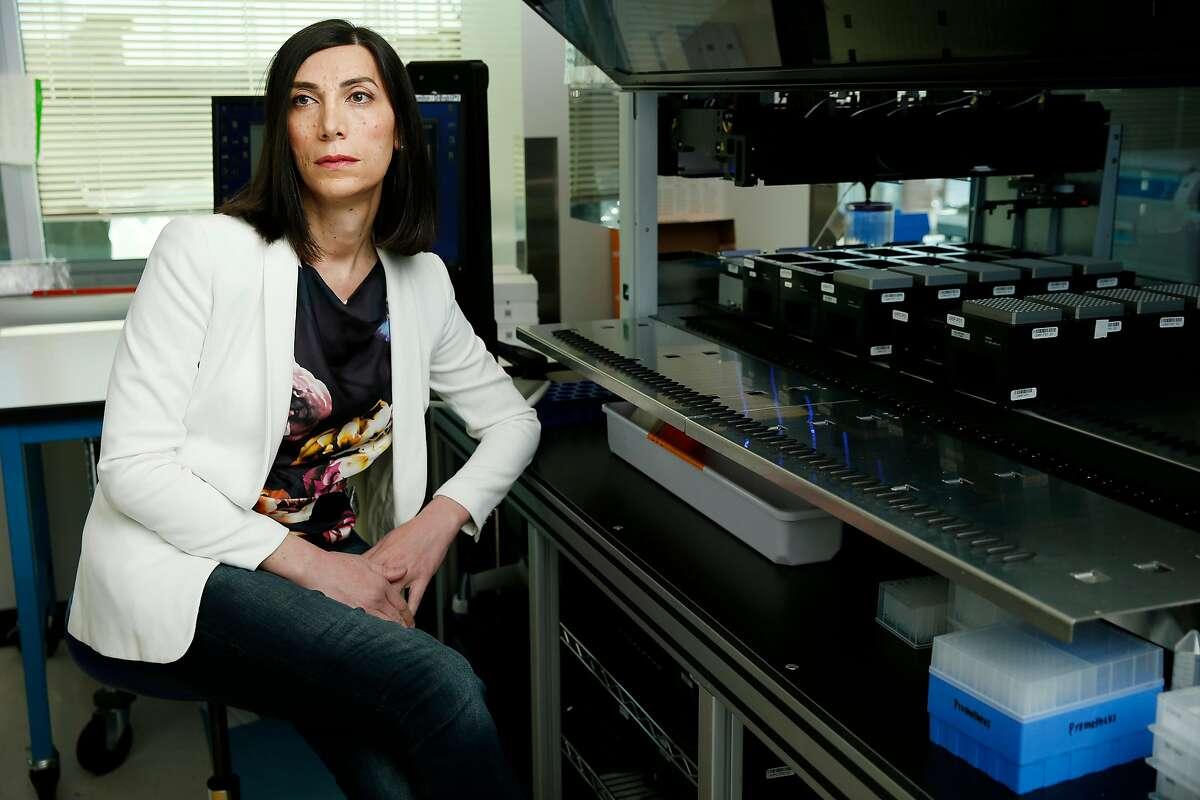 Twist Bioscience CEO Emily LeProust, Friday, Feb. 16, 2018, in San Francisco, Calif.