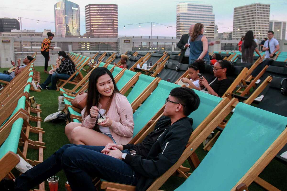 Rooftop Cinema Club, located at San Felipe and Post Oak, kicks off its reopening with some of the following favorite American film classics. Indulge in cinematic viewings under the stars and catch the skyline vistas of Houston's Uptown Park.
