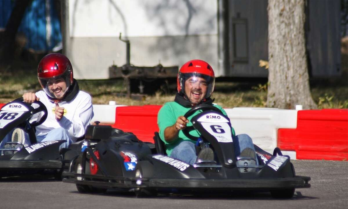 """3. Alamo Karts 25600 I-10 West, 210-828-5511, alamokarts.com """"Alamo Karts in Boerne features a 1/3mile, 24-foot wide asphalt track for competitive and novice racers alike, ages 12 and older. Slip into a propane-powered RiMO Alpha-Kart and shoot for speeds of up to 35 miles per hour as you race against the clock or each other. Races are $20 per 10 minute race, which covers 12 to 15 laps."""" Express-News report."""