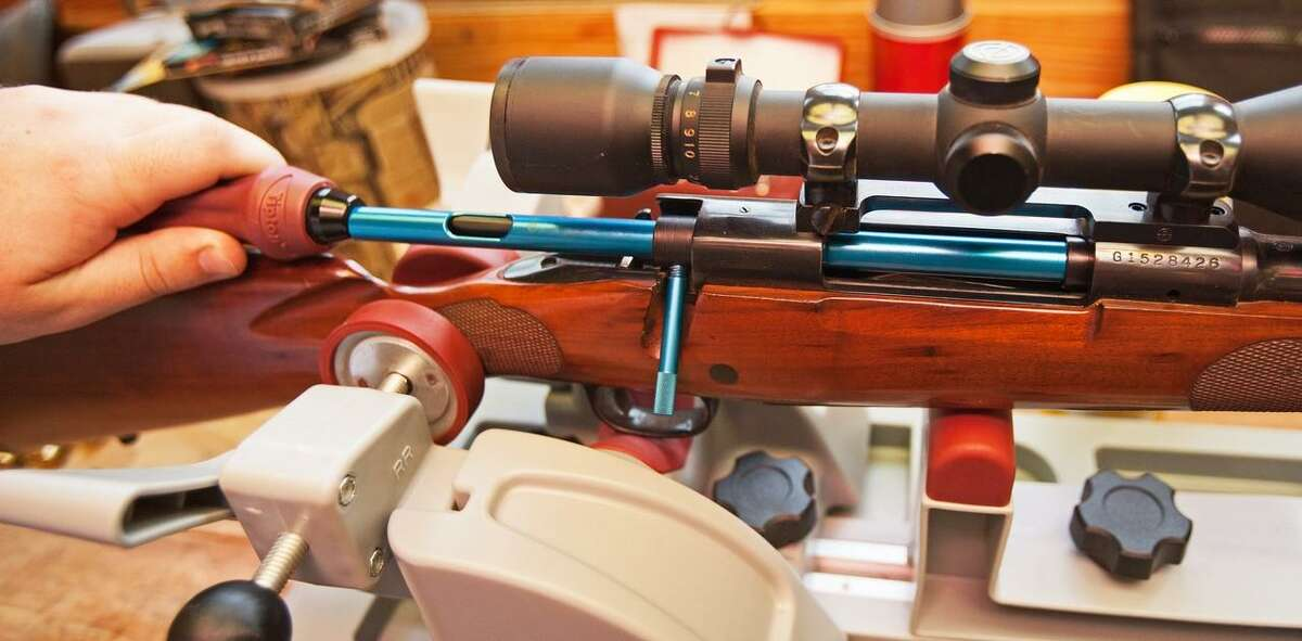Cleaning the bore from the chamber will keep the rod from damaging the muzzle. Use a bore guide to prevent harm to the chamber.