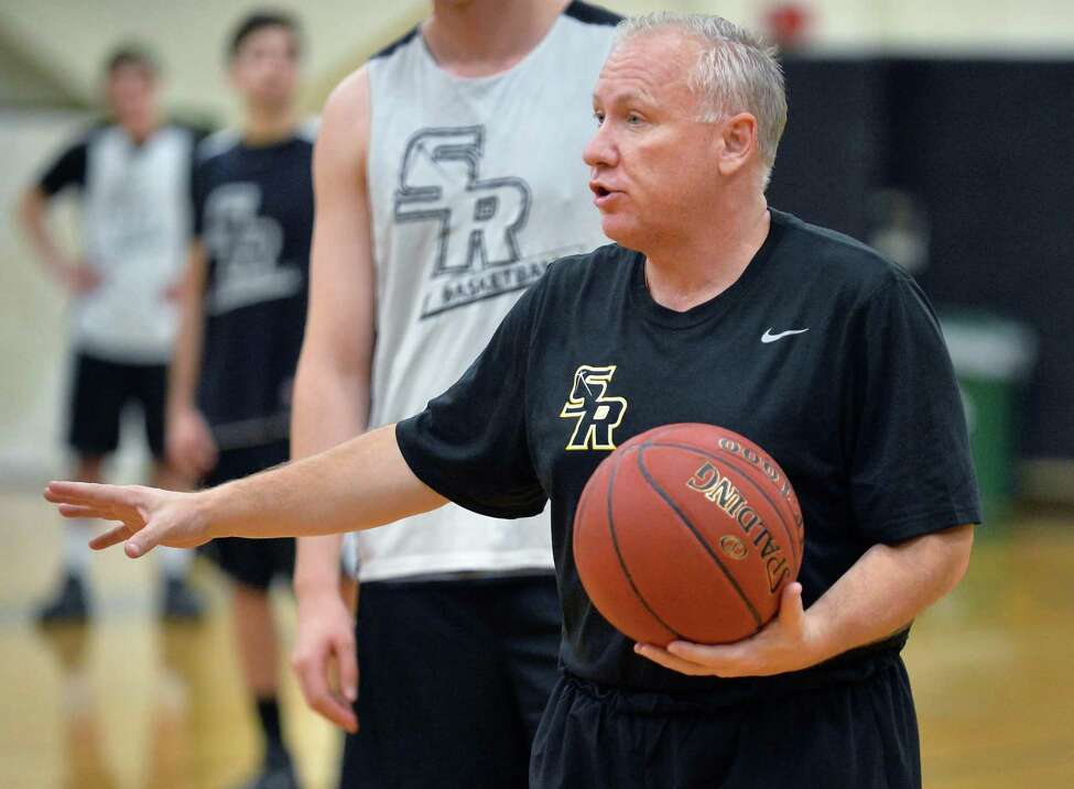 College of Saint Rose men's basketball head coach Brian Beaury runs a practice Thursday Nov. 5, 2015 in Albany, NY. (John Carl D'Annibale / Times Union)