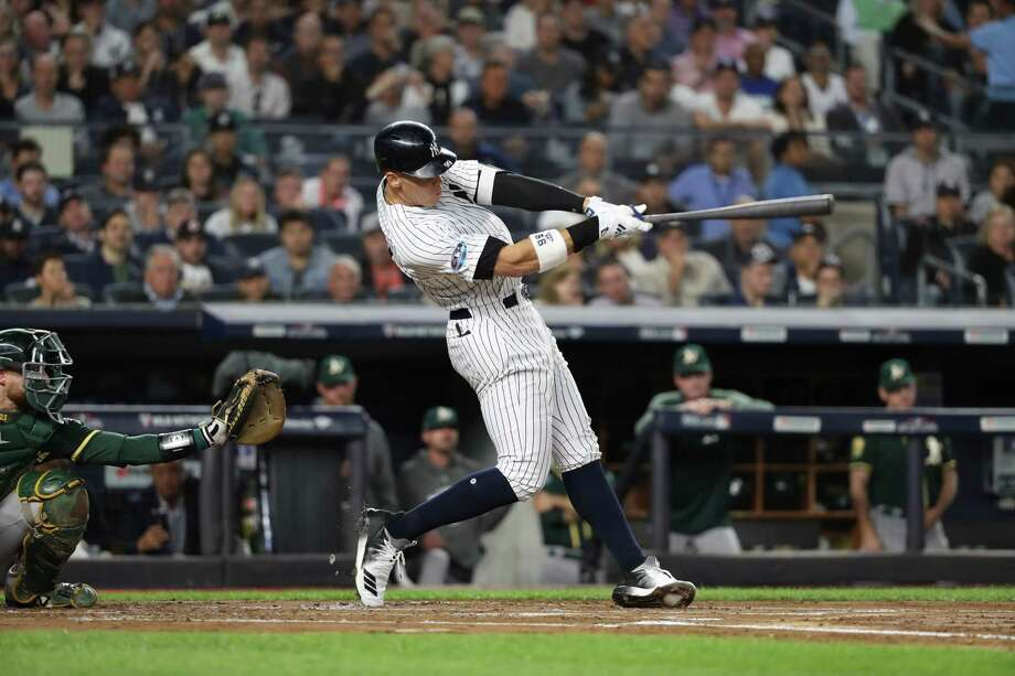 38ff45f19 The New York Yankees  Aaron Judge hits a two-run homer in the first