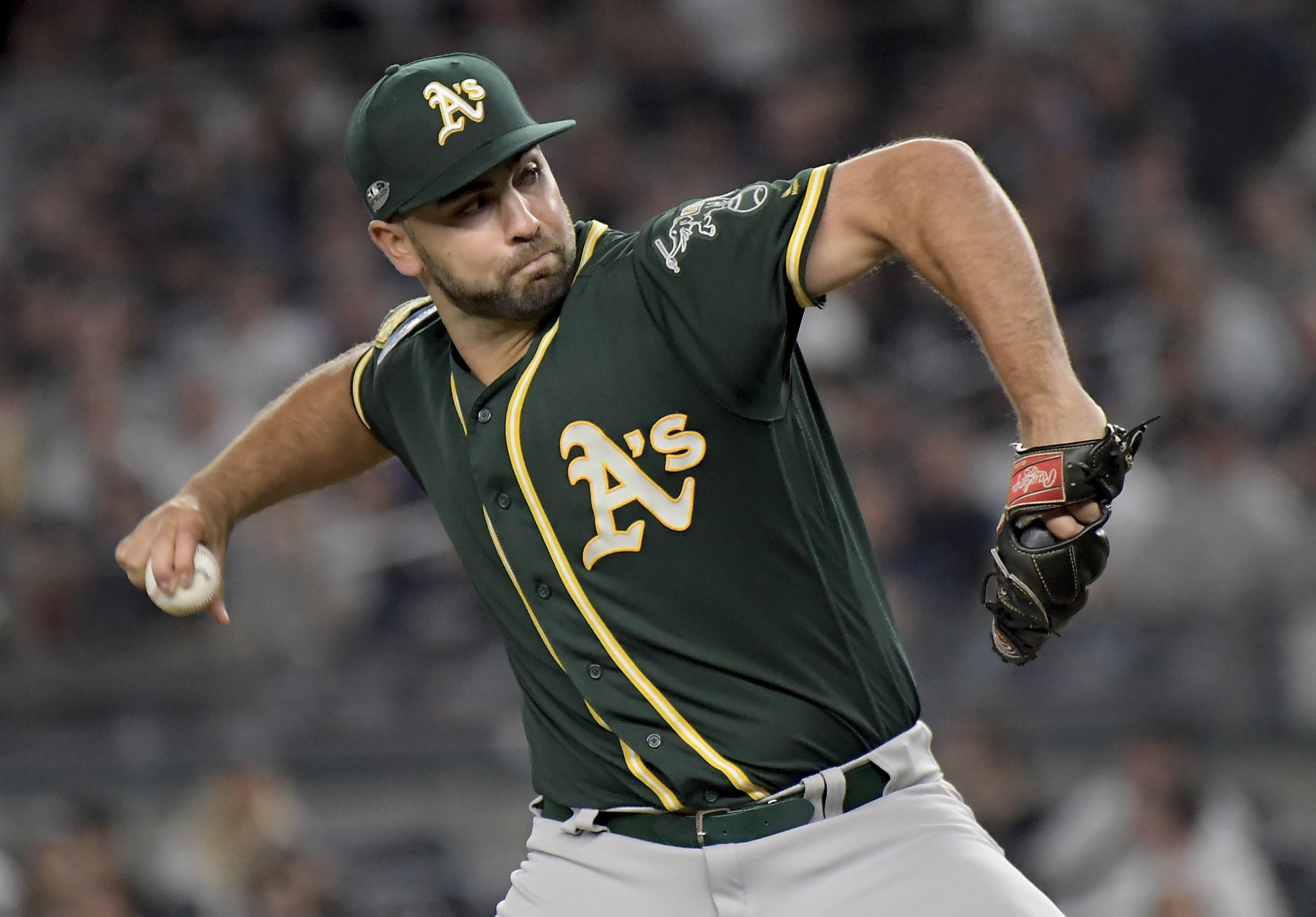 Struggling Rookie Lou Trivino Has As Best Wild Card Outing Sfgate