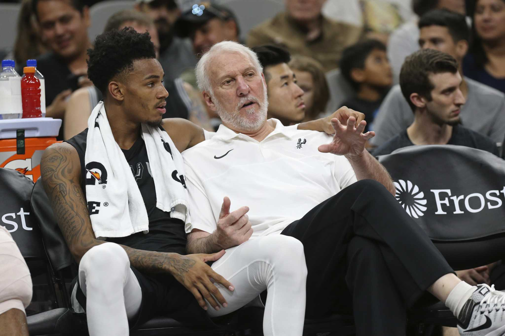 Spurs' Dejounte Murray on tearing ACL: 'I cried.'