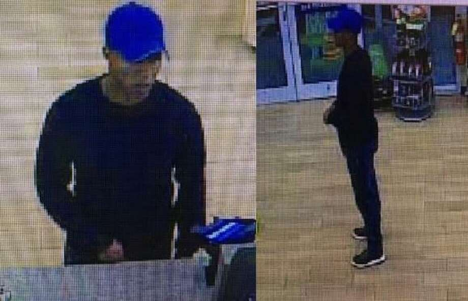 Milford police have released photos of a suspect who stole cash from a Cumberland Farms store. The incident happened just before midnight on Sept. 29 at the Boston Post Road store. Photo: Milford Police Department Photo