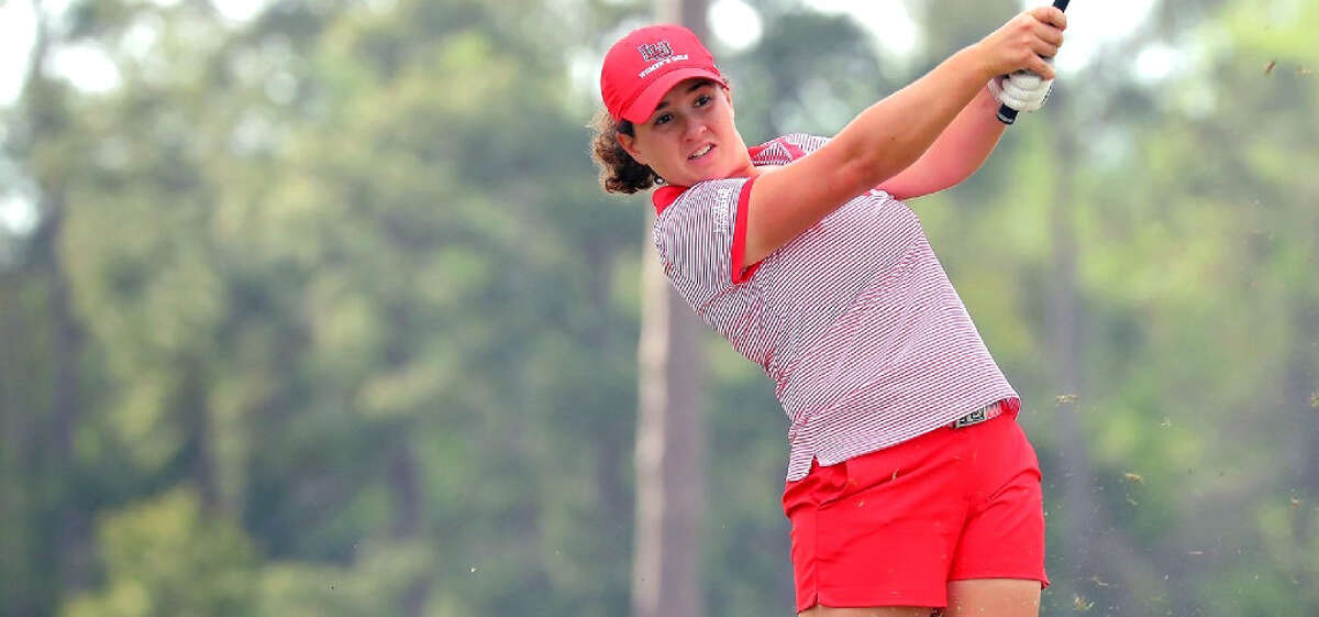 Lamar University sophomore Elodie Chapelet was named the Southland Conference Women's Golfer of the Month for September. (Photo provided by Jeff Kellum/Lamar Athletics)