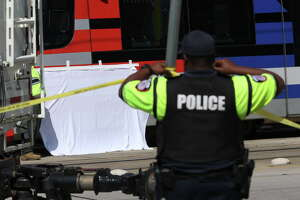 A METROrail struck and killed a male while heading southbound on Fulton Street near Weisenberger Street on Thursday, Oct. 4, 2018, in Houston.