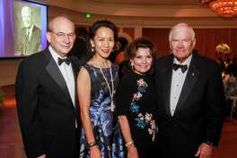 David Leebron and Y. Ping Sun, from left, with Linda and Dr. Walter McReynolds at An Evening in Rice's Honour, Rice University's bi-annual gala.