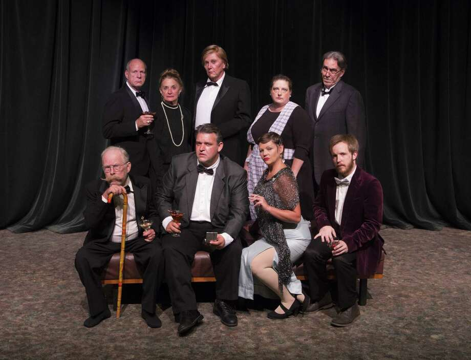 "Pictured is the cast of The Players Theatre Company's ""And Then There Were None"" which opens at the Owen Theatre on Oct. 19. Bottom row from left are Dennis O'Connor, Dave Kerr, Angie Miller and Kevin Downs; top row from left are Mark Wilson, Marilyn Moore, John McDonald, Kim Lambright and Rick Sellers. Zachary Kirk and Dale Trimble are not pictured. Visit www.owentheatre.com for ticket information. Photo: Photo By Brad Meyer"