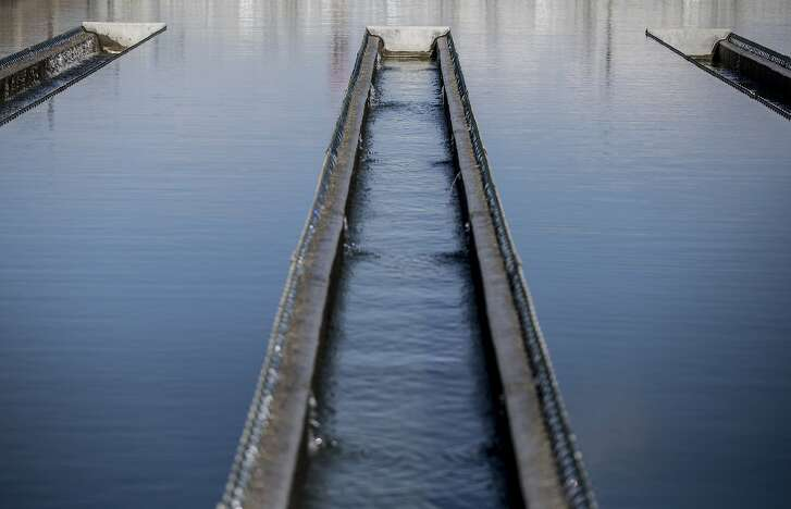 Water from the nearby Mallard Reservoir moves through the final steps of treatment while at the Contra Costa County Water District's Ralph D. Bollman Water Treatment Plant in Concord, Calif. Wednesday, Oct. 3, 2018.