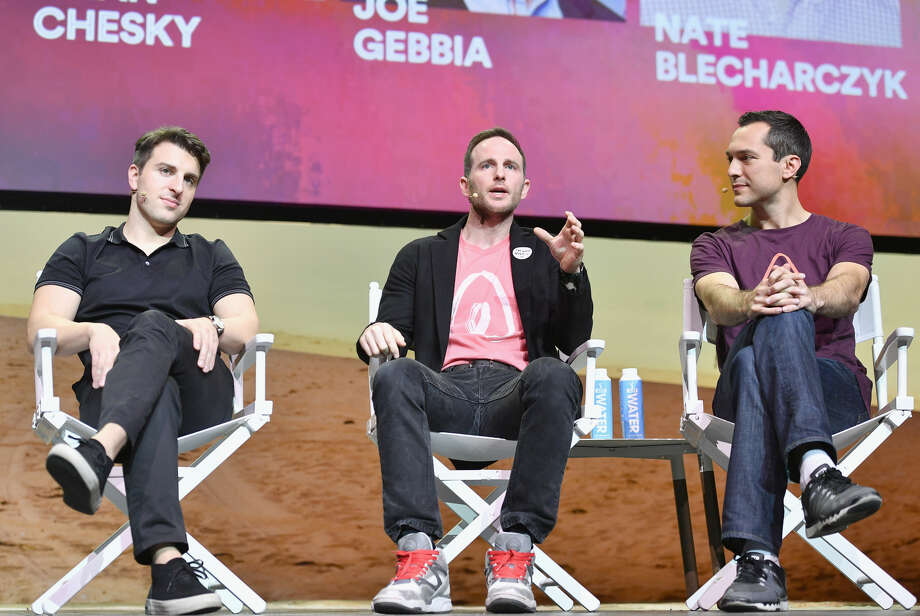 207. (L-R) Brian Chesky, Joe Gebbia and Nate BlecharczykCo-founders of AirbnbNet worth: $3.7 billion eachAge: 37, 37, 35, respectivelyPhilanthropy score: 2 Photo:  (Photo By Mike Windle/Getty Images For Airbnb)