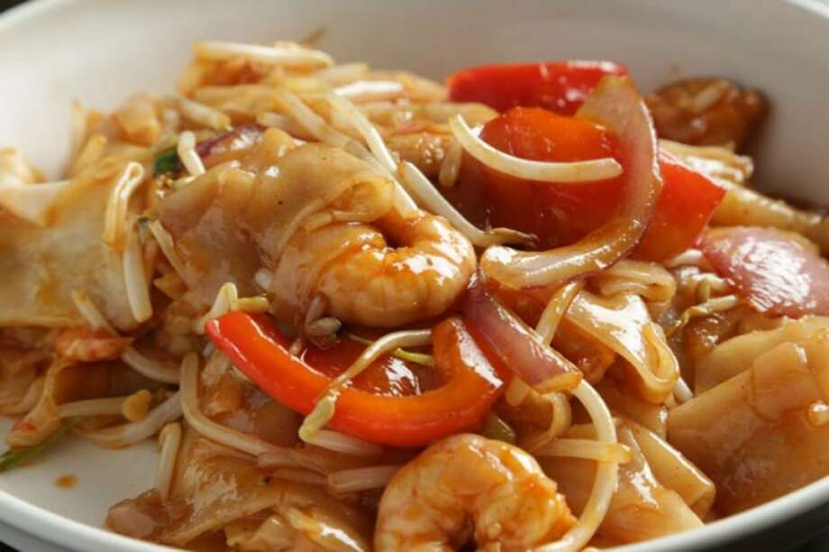 Drunken noodle with shrimp at Ren Dumpling and Noodle House in Wilton. Photo: Contributed Photo / Facebook