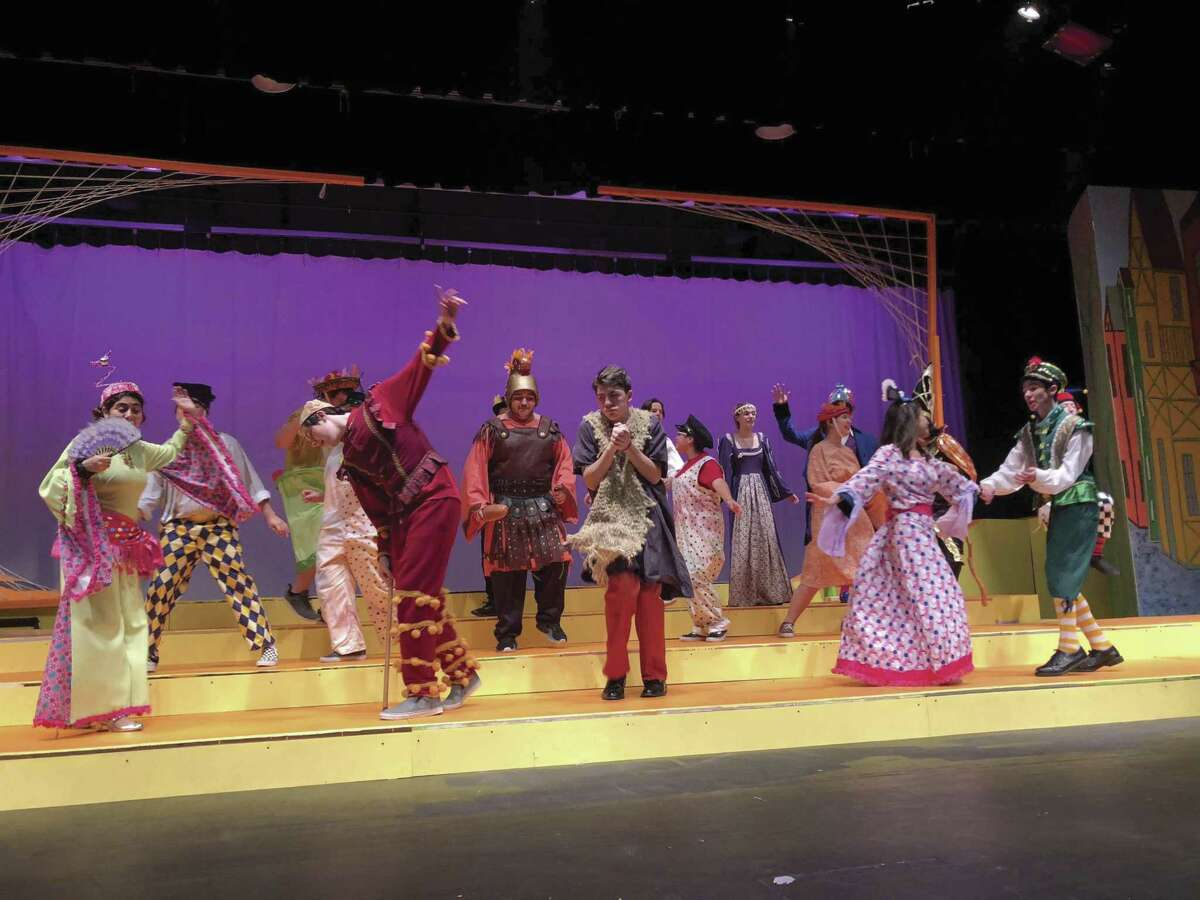 """The cast of """"King Stag"""" at Conroe High School. The theatre department presents the show Oct. 4, 5, 6 and 9."""