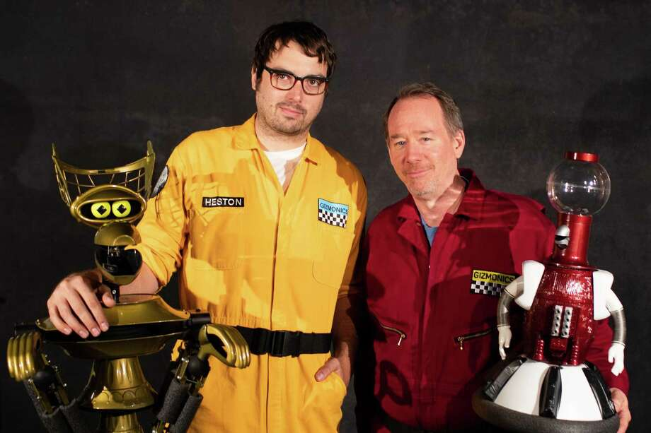 "Jonah Ray and Joel Hodgson, with robots, will team up to watch ""The Brain."" Photo: Right On! PR / Contributed Photo"