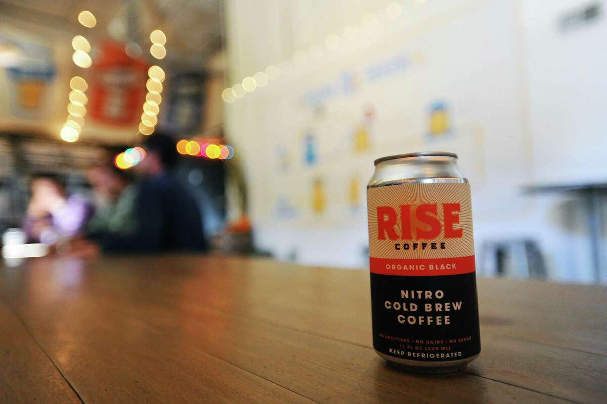 Rise Brewing's nitro cold brew - at the time in October 2016 known as Rise Coffee - at Half Full Brewery in Stamford, Conn.