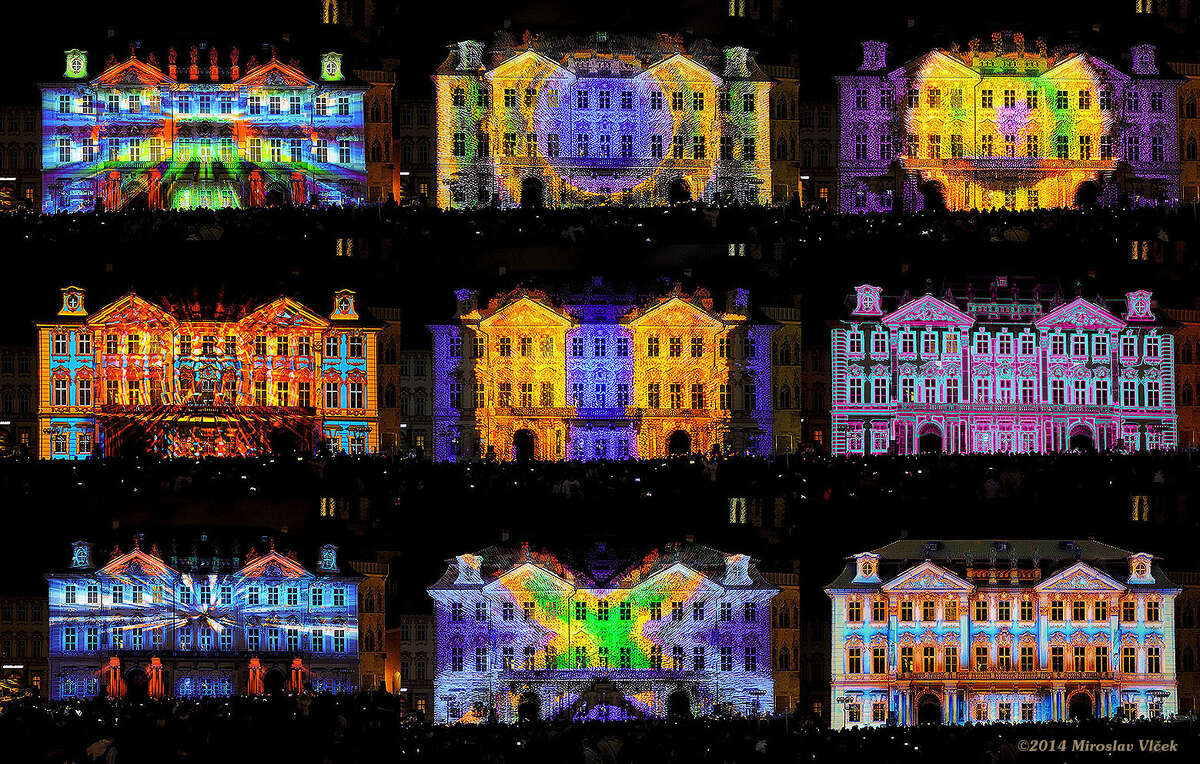 BOREALIS is a festival in South Lake Union that utilizes light projection technology.