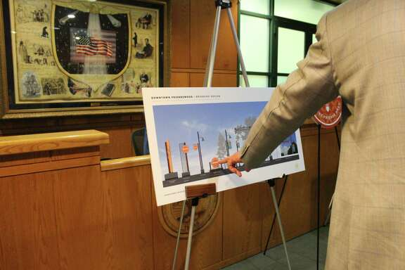 A drawing depicts ideas for rebranding Friendswood's downtown. City Council has OK'd a downtown revitalization plan.