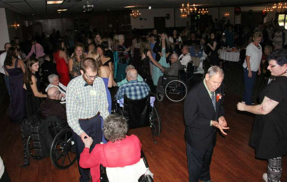Students and seniors from all over the Thumb enjoyed an afternoon of dancing, laughing and making a couple of new friends Tuesday during the annual Huron County Senior Ball. More than 200 people packed into the Franklin Inn's Banquet Hall for the celebration, which ended with a few crownings — including this year's king and queen. Photo: Bradley Massman/Huron Daily Tribune