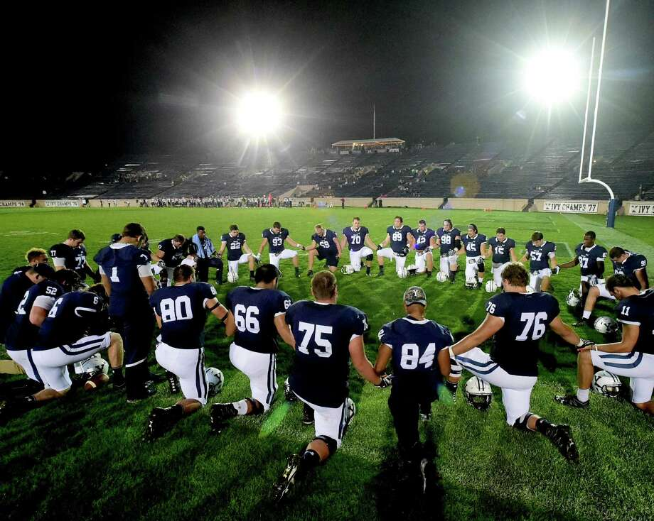 The Yale football team hosted Penn under the lights at Yale Bowl in 2016. Photo: Peter Hvizdak / Hearst Connecticut Media File Photo / ©2016 Peter Hvizdak