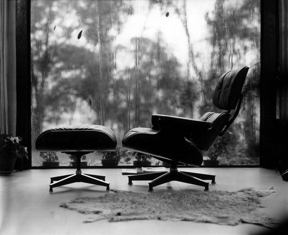 The Eames plywood lounge and ottoman.