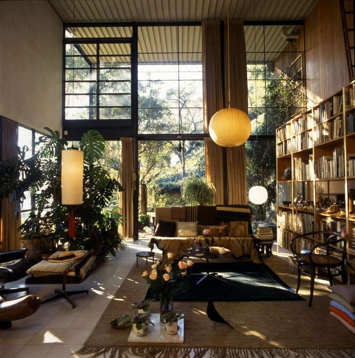 The Eames House in Pacific Palisades, California.