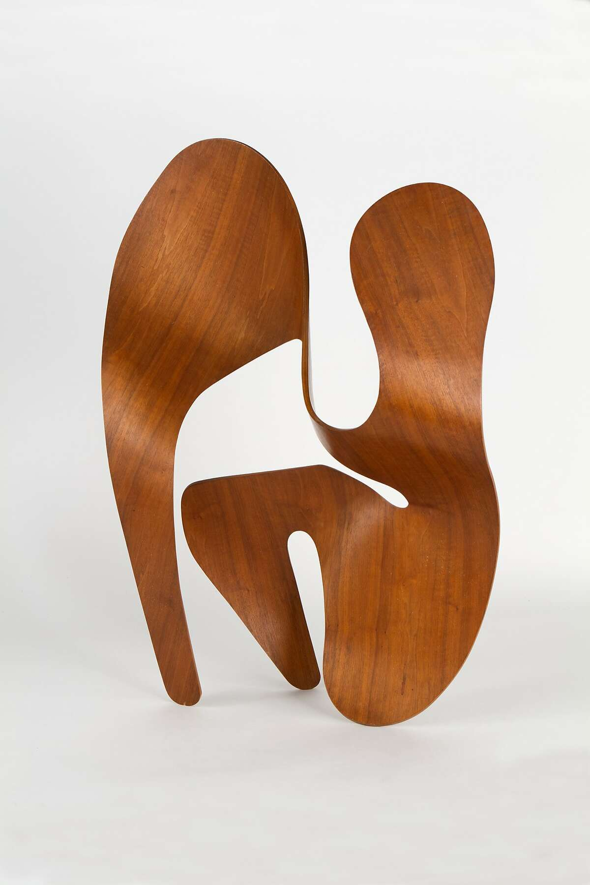 A plywood sculpture by Ray Eames.