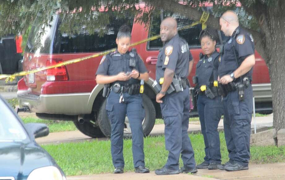 Two teenagers were shot after getting off the school bus near Katy, authorities said. Photo: Jay R. Jordan
