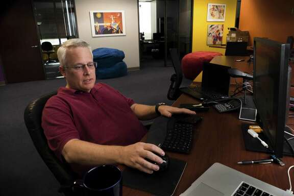 Stephen Johns, vice president of engineering at SecureLogix works on Tuesday, Oct. 2, 2018. The corporation works to secure voice networks.