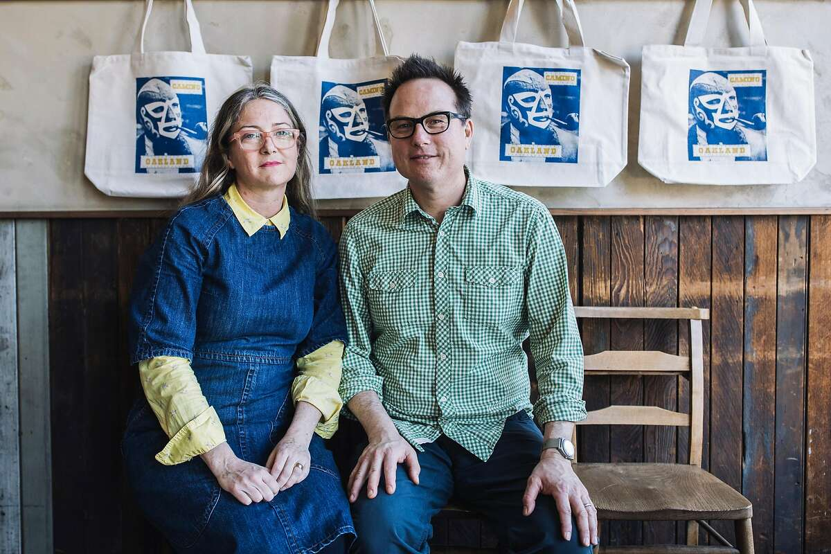 Camino owners Russ Moore and Allison Hopelain poses for a portrait at their restaurant in Oakland, Calif. on Monday, March 26, 2018.