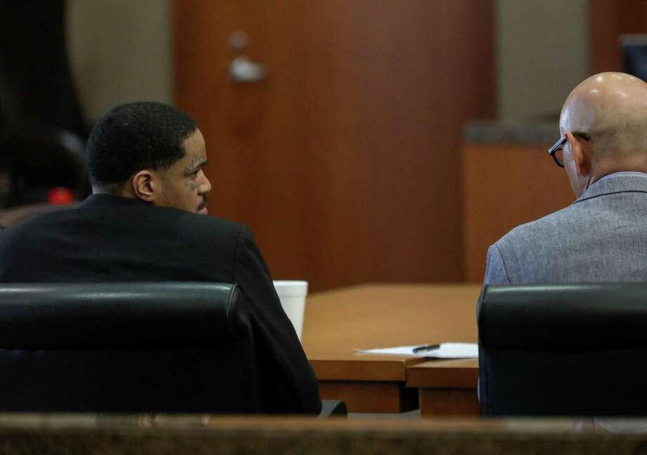 Kiara Taylor, left, 29, is on trial for capital murder, accused of gunning down 19-year-old Peter Mielke during an armed robbery of Reginelli's Pizzeria on Bissonnet in Bellaire, photographed Wednesday, Oct. 3, 2018, in Houston. Photo: Jon Shapley, Staff Photographer / Staff Photographer / © 2018 Houston Chronicle