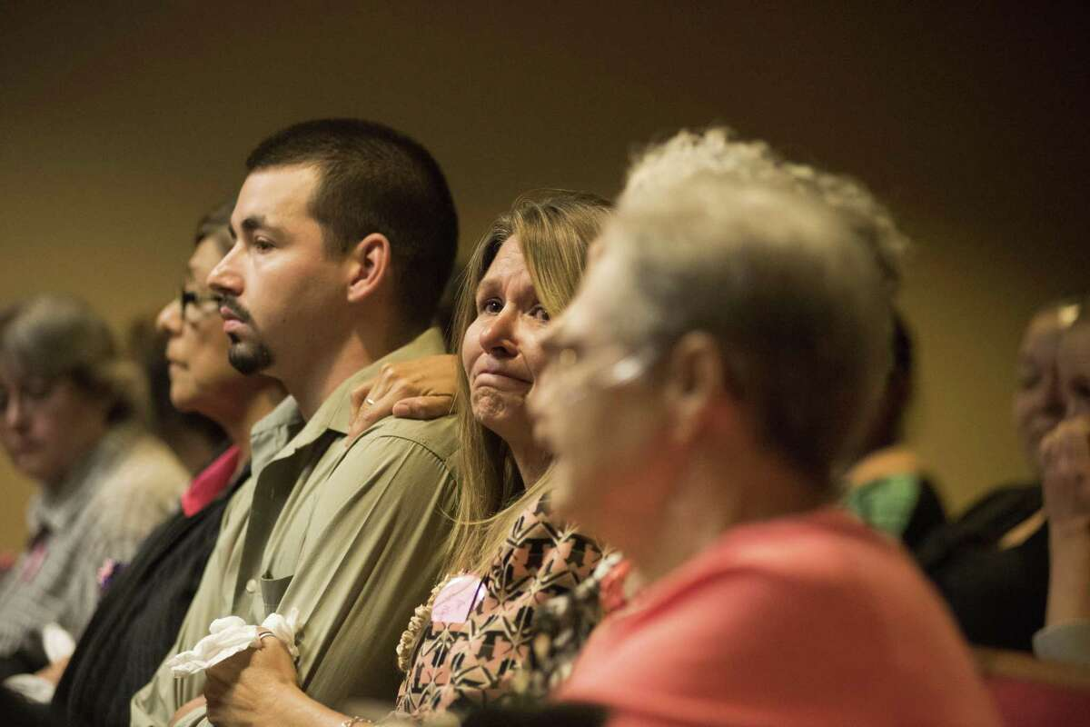 The victim's grandmother, reacts as she listens to the guilty verdict Thursday in the trial of Isaac Andrew Cardenas.