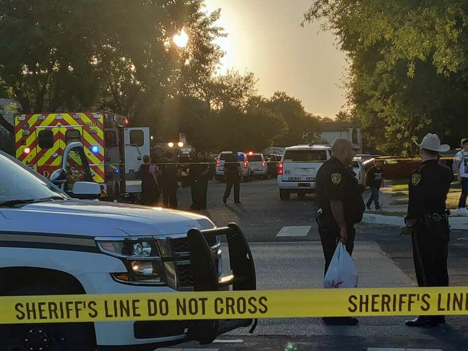 Two people are in critical condition after a shooting about 3:30 p.m. in the 2900 block of Ash Field, Oct. 4, 2018. Photo: Jacob Beltran