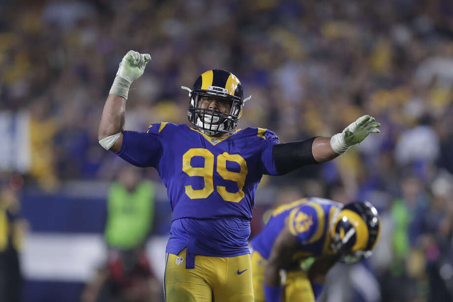 QUESTION: How big of a challenge is it facing the Rams' defensive line? They already had All-Pro defensive tackle Aaron Donald, but then they added five-time Pro Bowl nose tackle Ndamukong Suh in the offseason. 