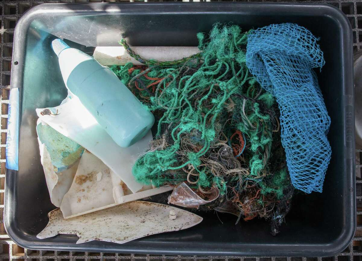 A sample of the garbage collected during the Mega Expedition: Photographed on Sunday, Aug. 23, 2015 in San Francisco, Calif. The first batch of Mega Expedition vessels arrives in San Francisco after a 30-day voyage mapping the Great Pacific Garbage Patch.