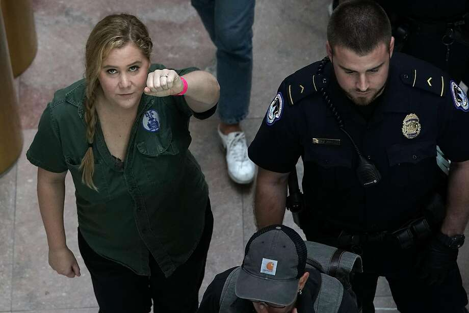 Comedian Amy Schumer was arrested Oct. 4 during a protest against then- Supreme Court nominee Brett Kavanaugh. Photo: Alex Wong / Getty Images