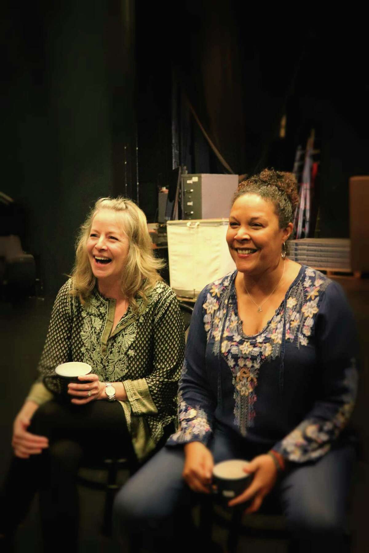 """Tasha Lawrence, left, and Linda Powell, who star in """"Roommates."""""""