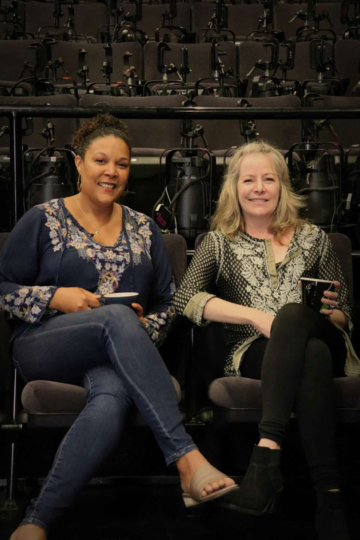 """Linda Powell, left, and Tasha Lawrence, who star in """"Roommates."""""""