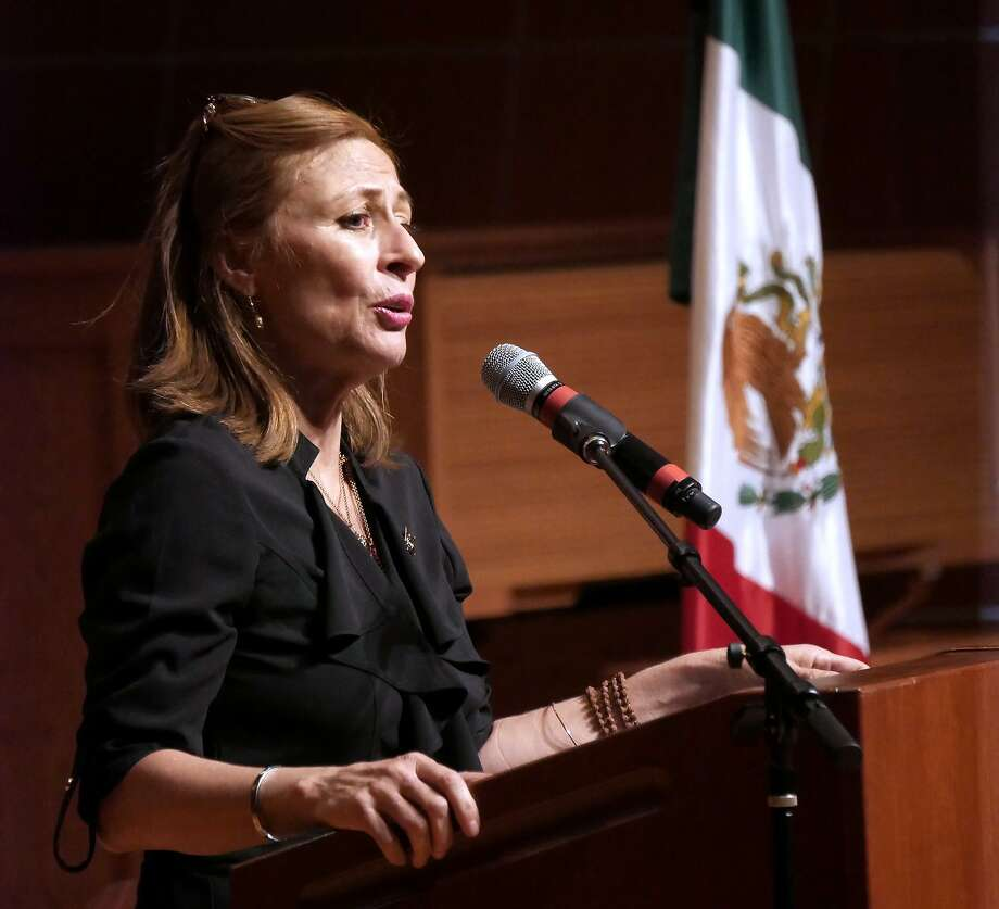 Tatiana Clouthier, the campaign manager for the successful campaign of México's incoming President, Andrés Manuel López Obrador, was the special guest lecturer for Texas A& International University's (TAMIU) Presidential Lecture Series, Wednesday, October 3, 2018, at the Center for the Fine and Performing Arts Recital Hall. Photo: Cuate Santos /Laredo Morning Times / Laredo Morning Times