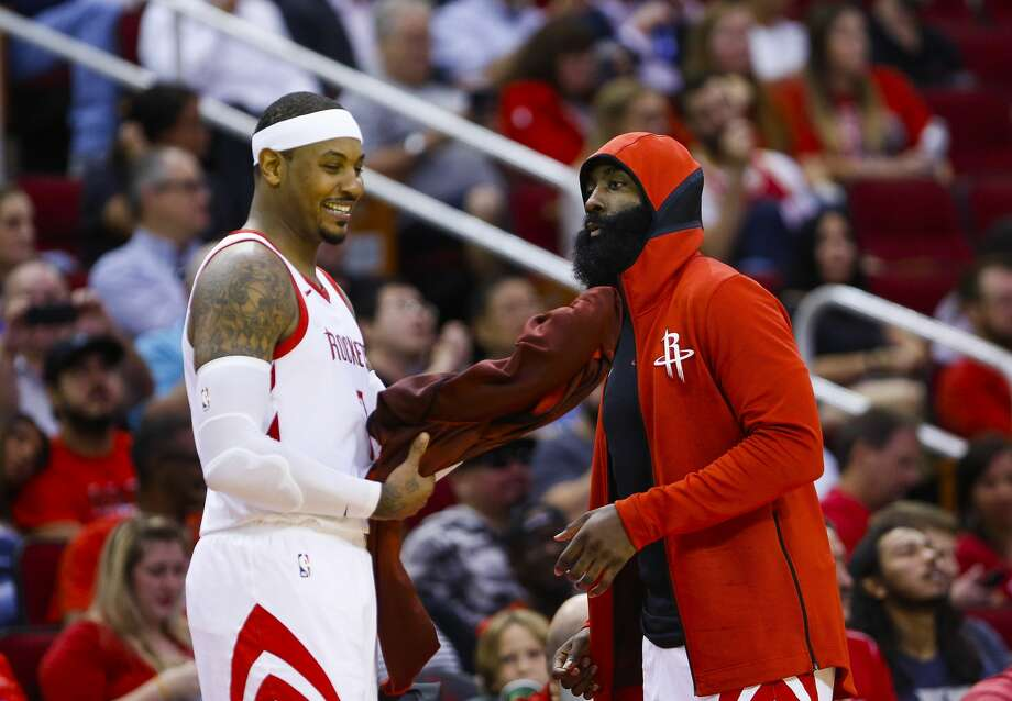 PHOTOS: The projected win totals for each NBA team this season The Rockets have added Carmelo Anthony (left) to the mix for the 2018-19 season, which begins Tuesday night with a TNT doubleheader. Go through the photos above for a look at over/under win totals for the 2018-19 season ... Photo: Mark Mulligan/Staff Photographer