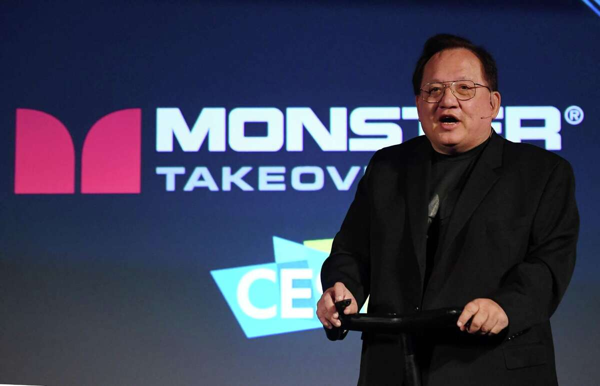Monster founder and CEO Noel Lee speaks at the Consumer Electronic Show in Las Vegas in January. The former audio powerhouse's sales have plummeted, its partnership with Beats soured, and new ventures have gone nowhere.