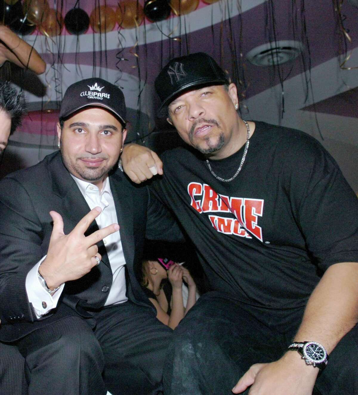 """Fereidoun """"Fred"""" Khalilian, Monster's ousted chief operating officer, with rapper Ice-T in 2007."""
