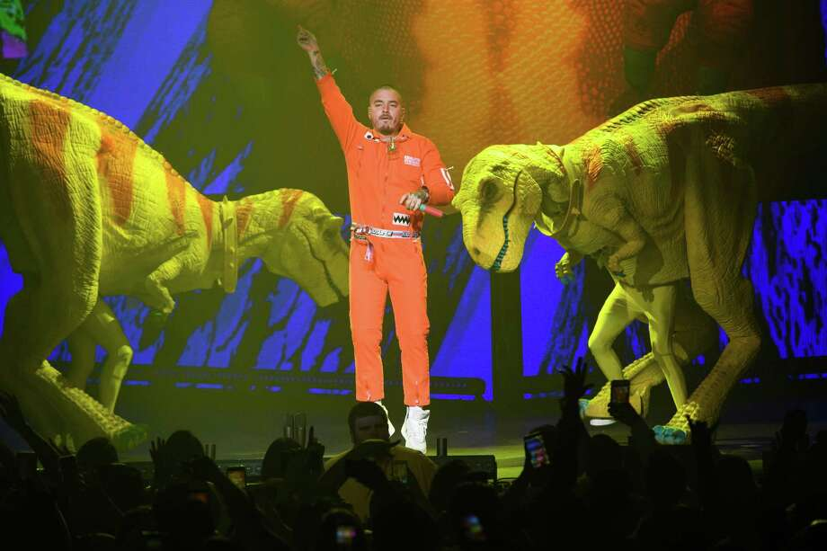 J Balvin in concert at the Smart Financial Centre at Sugar Land, TX on Thursday, October 4, 2018 Photo: Jamaal Ellis, Contributor / 2018