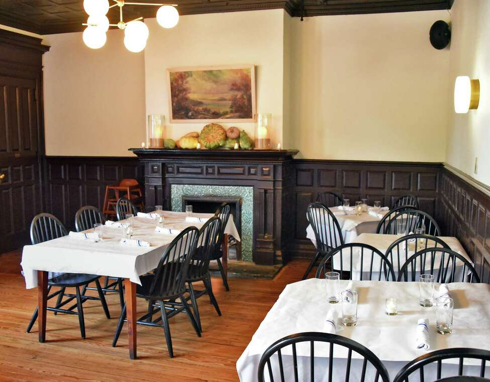 The main dining room at Le Perche restaurant on Warren Street Thursday Sept. 27, 2018 in Hudson, NY. (John Carl D'Annibale/Times Union)