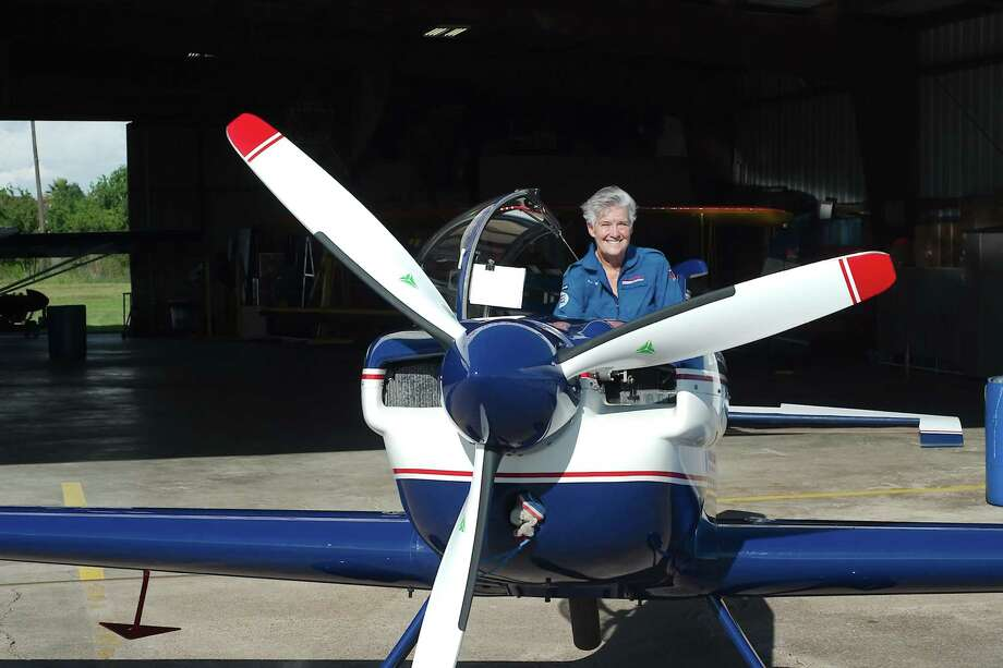 Veteran aerobatic flying pilot Debby Rihn-Harvey will perform in the Wings over Houston air show. Photo: Kirk Sides / Houston Chronicle / © 2018 Kirk Sides / Houston Chronicle
