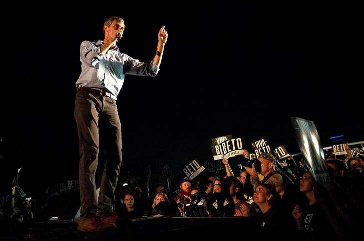 Beto O'Rourke speaks at rally in Austin on Sept. 30, 2018. (NICK WAGNER/AUSTIN AMERICAN-STATESMAN)