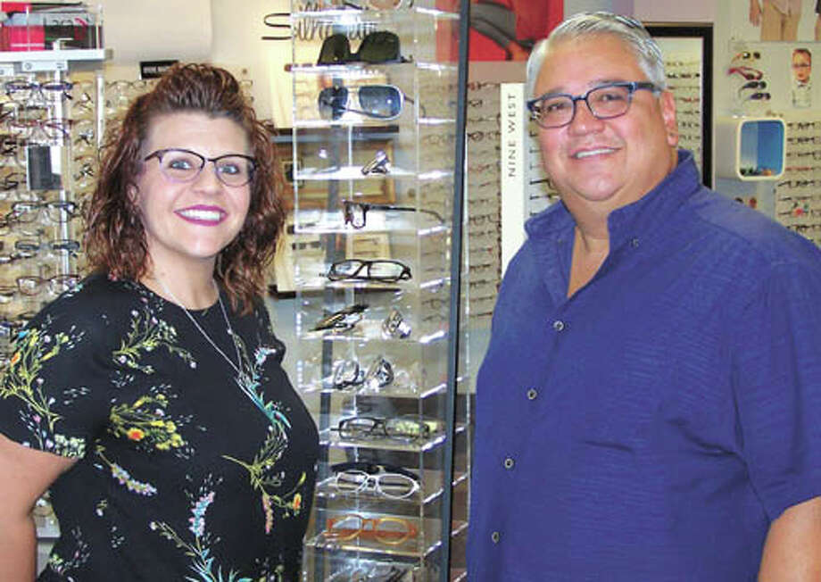 Shannon Garza and her father, Paul Garza, have great news for you if you  go crosseyed in front of your computer. CVxpression lenses can fix  that! See them at 4400 N. Midland Drive #403 in the Cornerstone Shopping  Center Photo: Paul Wiseman