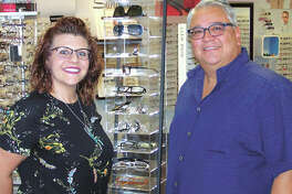 Shannon Garza and her father, Paul Garza, have great news for you if you go crosseyed in front of your computer. CVxpression lenses can fix that! See them at 4400 N. Midland Drive #403 in the Cornerstone Shopping Center